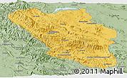 Savanna Style Panoramic Map of Chaharmahal and Bakhtiar