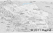 Silver Style Panoramic Map of Chaharmahal and Bakhtiar