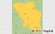 Savanna Style Simple Map of Chaharmahal and Bakhtiar