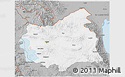Gray 3D Map of East Azarbayejan