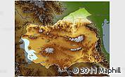 Physical 3D Map of East Azarbayejan, darken