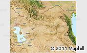 Satellite 3D Map of East Azarbayejan