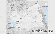 Silver Style 3D Map of East Azarbayejan