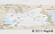 Classic Style Panoramic Map of East Azarbayejan