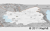 Gray Panoramic Map of East Azarbayejan