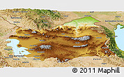 Physical Panoramic Map of East Azarbayejan, satellite outside