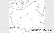 Blank Simple Map of East Azarbayejan