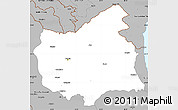 Gray Simple Map of East Azarbayejan