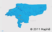Political 3D Map of Esfahan, single color outside
