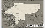 Shaded Relief 3D Map of Esfahan, darken