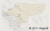 Shaded Relief 3D Map of Esfahan, lighten