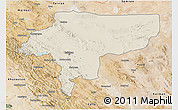 Shaded Relief 3D Map of Esfahan, satellite outside