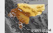Physical Map of Esfahan, darken, desaturated