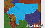 Political Map of Esfahan, darken