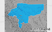 Political Map of Esfahan, desaturated