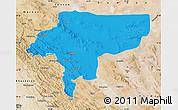 Political Map of Esfahan, satellite outside