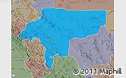 Political Map of Esfahan, semi-desaturated