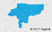 Political Map of Esfahan, single color outside