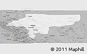Gray Panoramic Map of Esfahan