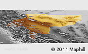 Physical Panoramic Map of Esfahan, desaturated