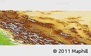 Physical Panoramic Map of Esfahan