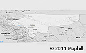 Silver Style Panoramic Map of Esfahan