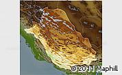 Physical 3D Map of Fars, darken