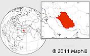 Blank Location Map of Fars