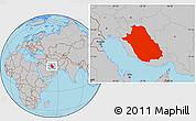Gray Location Map of Fars