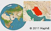 Satellite Location Map of Fars