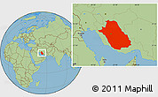Savanna Style Location Map of Fars