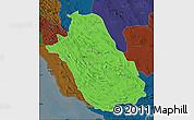 Political Map of Fars, darken