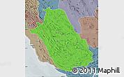 Political Map of Fars, semi-desaturated
