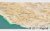 Satellite Panoramic Map of Fars