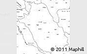 Blank Simple Map of Fars