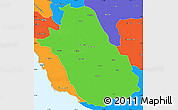 Political Simple Map of Fars