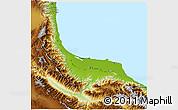 Physical 3D Map of Gilan