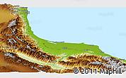 Physical Panoramic Map of Gilan