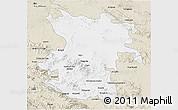 Classic Style 3D Map of Hamadan