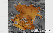 Physical 3D Map of Hamadan, desaturated