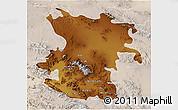 Physical 3D Map of Hamadan, lighten