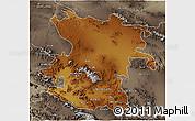 Physical 3D Map of Hamadan, semi-desaturated