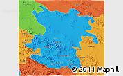 Political 3D Map of Hamadan