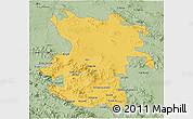 Savanna Style 3D Map of Hamadan