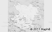 Silver Style 3D Map of Hamadan