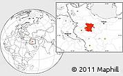 Blank Location Map of Hamadan