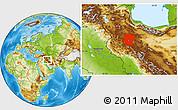 Physical Location Map of Hamadan