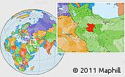 Political Location Map of Hamadan