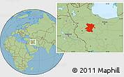 Savanna Style Location Map of Hamadan