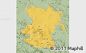 Savanna Style Map of Hamadan